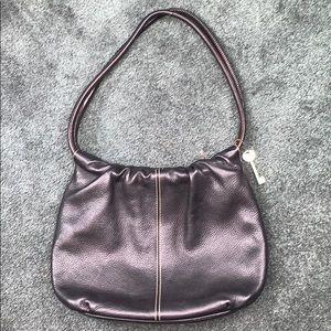 Fossil Black Leather Bag Purse Medium Size